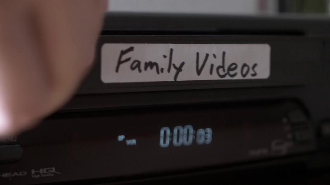 Los videos antiguos de la familia en vhs