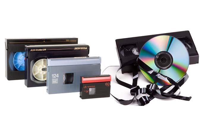 Cómo funciona la conversión de cintas vhs a dvd