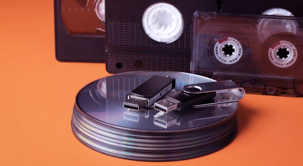 Copiar cintas de vhs a un dvd, usb, tarjeta de memoria.