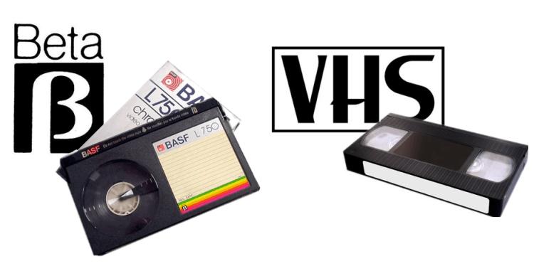 Videocaseteras betamax y vhs. Apertura a la innovación tecnológica
